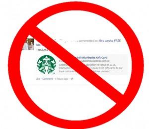 Starbucks Clickjacking Scam Facebook
